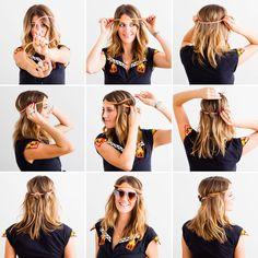 Headband Hacks! 3 Creative Ways to Style 'Em Up via Brit + Co.
