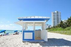 SOHO Beach House in Miami Beach, FL. Custom design/build beach and pool deck equipment by CustomBeachHuts.com