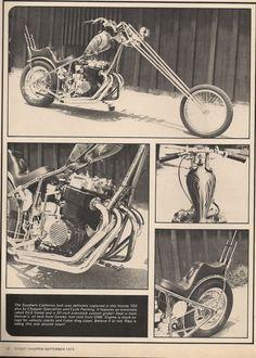 #Honda #CB750 from Street #Chopper magazine. #Motorcycle #Motorbike #Vintage #Metric