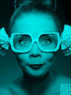 Cara's glasses gif by Sketchaganda  Cara Delevingne Pop art