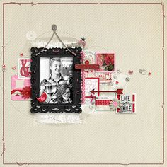 Love Your Smile #scrapbook page by Amy at #designerdigitals