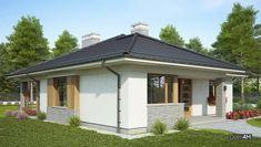 Современный одноэтажный дом с крытой верандой Adele, Bungalow, My House, Gazebo, Shed, Outdoor Structures, Projects, Kiosk, Backyard Sheds