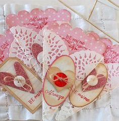 valentine's - perfect for popping in a tube of sweeties - love the buttons, too.