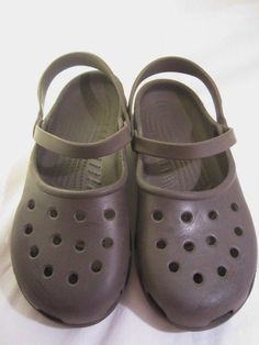 Crocs Brown Slingback Mary Janes Croc Womens Shoes Size 9 Sling Back  #Crocs #MaryJanes #Casual