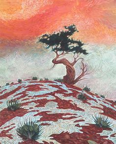 We want to wish represented artist Shonto Begay a Happy Birthday! Be sure to join us for Gallery Stroll on February 17 to see more works from Shonto including the featured piece One Tree Hill. #happybirthday #art #tree #native #youngforever