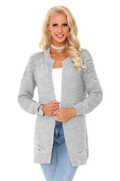 100% ACRYL  Sexy Cardigan Grey  #lingerie #lingeriepartner #eroticlingerie #b2b Grey Fashion, Womens Fashion, Sweaters, Jackets, Lingerie, Coats, Sexy, Style, Down Jackets
