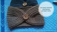 Free Pattern/Tutorial - Knot Knitted Headband/Earwarmer (this says knitted....but I'm pretty sure it's crochet...........)