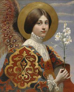 French School, XIX century, Angel of annunciation