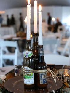 Oktoberfest 2016 - tradition and present lead to the biggest beer festival . - Oktoberfest 2016 – tradition and present lead to the biggest beer festival … – birthday – # - Oktoberfest Party, Beer Bottle Centerpieces, Candle Centerpieces, Masculine Centerpieces, Floral Centerpieces, Bottle Candles, Centerpiece Decorations, Wedding Centerpieces, 50th Birthday Party