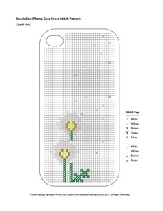 pattern for cross-stitch iphone case