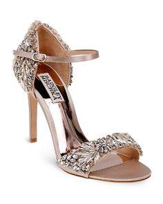 $Badgley Mischka Tampa Embellished d'Orsay Ankle Strap Sandals - Bloomingdale's