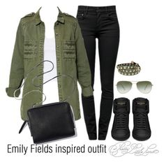 """Emily Fields inspired outfit/PLL"" by tvdsarahmichele ❤ liked on Polyvore"