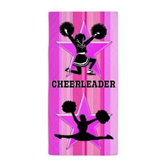 Dazzling Cheer Beach Towel New Cheerleading designs now available! Show your love for Cheerleading with our exclusive Cheerleader Tees and Gifts.  http://www.cafepress.com/sportsstar/10189555  #Cheerleading #Cheerleader #Cheerleadergift #Lovecheerleading #PersonalizedCheerleader