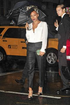 How to Look Flawless in the Rain: Solange