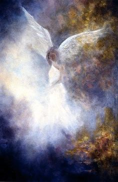 "Marina Petro ~ Adventures In Daily Painting: Guardian Angel, ""Angel Art"" by Marina Petro"