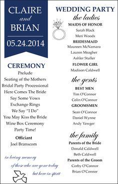 Modern Wedding Program- if interested: https://www.etsy.com/listing/193616453/modern-wedding-program?