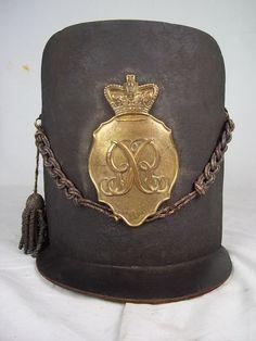 Original Waterloo Period British Officers Belgic 1812 Pattern Shako LI