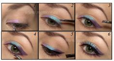 Multi-Colored Eyeliner Stripe