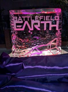 Ice sculpture of Battlefield Earth. Beautiful! @BE _the_Book