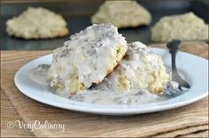 Drop buttermilk biscuits and sausage gray