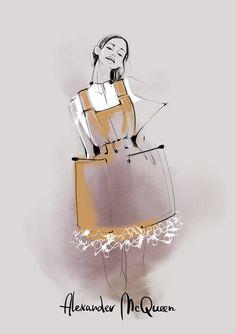 Fashion Illustration by Kathy Murysina, via Behance