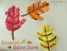 Hand print Autumn leaves