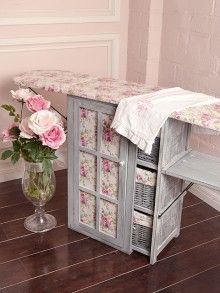 Going to ask baby brudder to build this for me!!!  Romantic Rose Chic Pink and Blue Ironing Station