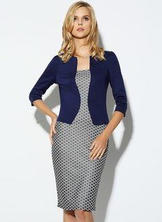 Cotton Polyester Check 3/4 Sleeves Knee-Length Elegant Dresses (1955113854)