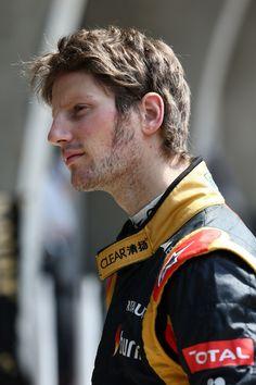 Round 3, UBS Chinese Grand Prix 2013, Practice, Romain Grosjean, Driver, Lotus F1 Team