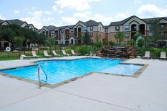 Hill Country Apartment pool with a negative edge that falls into a ...