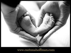 baby feet heart photo www.corinnahoffman.com