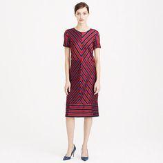 J.Crew - Collection chevron stripe silk-pleated dress