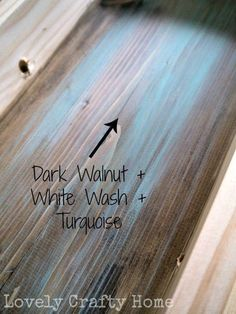 Love this effect! DIY: creating an aged wood look by staining first and then washing with layers of paint