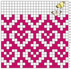 Tapestry Crochet Patterns, Fair Isle Knitting Patterns, Bead Loom Patterns, Knitting Charts, Weaving Patterns, Mosaic Patterns, Knitting Stitches, Stitch Patterns, Crochet Chart