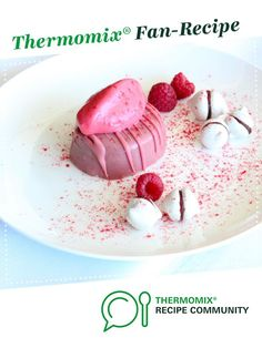 Pretty in pink - ruby chocolate dessert by Thermomix in Australia. A Thermomix ®️️ recipe in the category Desserts & sweets on www.recipecommunity.com.au, the Thermomix ®️️ Community.