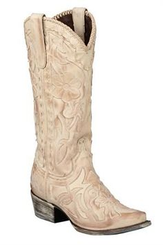 Lane Women's Cream Poison Cowgirl Wedding Boots (poison - because they have killer style??) $350