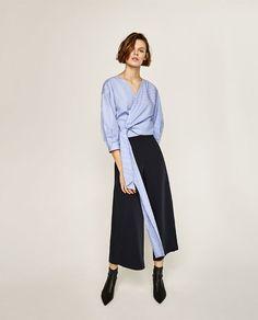 Immagine 1 di CAMICIA A RIGHE INCROCIATA di Zara