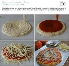 3-D food printer makes perfect pizza #tech #science #pizza