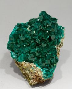 Dioptase with Calcite from Namibia    Buy # natural #gemstones online at mystichue.com