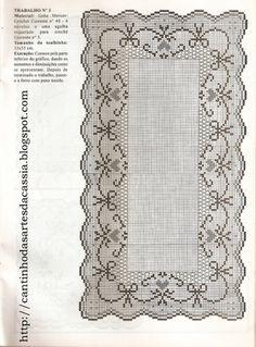 Gallery.ru / Fotoğraf #20 - =2 - giasemi   tel kırma ve dantel Filet Crochet Charts, Crochet Motif, Crochet Designs, Crochet Lace, Crochet Patterns, Crochet Curtains, Crochet Tablecloth, Fair Isle Chart, Crochet Home Decor