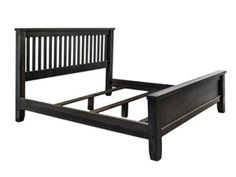 Rough Sawn Combo Bed with Modified Foot | Munros Furniture
