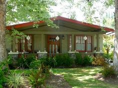 Rejuvenation Ats & Crafts: Bungalow Heaven, a historic neighborhood in Pasadena, contains over 800 craftsman style homes built between 1900-1930. It's one of the largest concentrations of restored craftsman style bungalows in California.