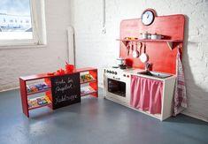 An die Töpfe, fertig, los! Die Spiel-Küche lässt Kinderherzen höher schlagen. #OBI #Selbstbauanleitung #DIY