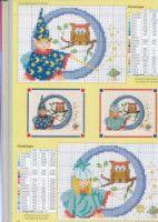"Gallery.ru / geminiana - Альбом ""iniciales 9"" Disney Cross Stitch Patterns, Baby Bibs, Alphabet, Kids Rugs, Letters, Gallery, Art, Cross Stitch Alphabet, Monograms"