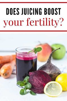 We're all looking to get in as many nutrients as we can. When trying to get pregnant it's even more important! Let's look at if juicing can help us out.