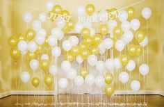 DIY Balloon Backdrop - great for photo backgrounds, the altar background, or just for decoration! IdoDIYs.com