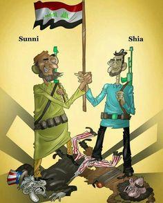وحدة السنة والشيعة في العراق ضد داعش #داعش #السنة #الشيعة #العراق  @alsaudianet  Al-saudia.net