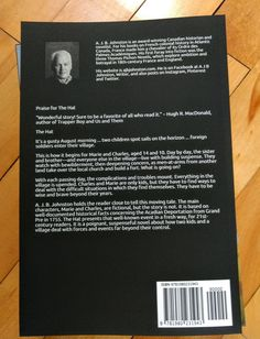 Back over of The Hat, my latest book.