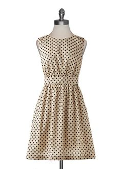 Ivory Dot Dress from Emily and Fin//
