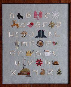 Winterwoods ABCs Cross Stitch Sampler Kit